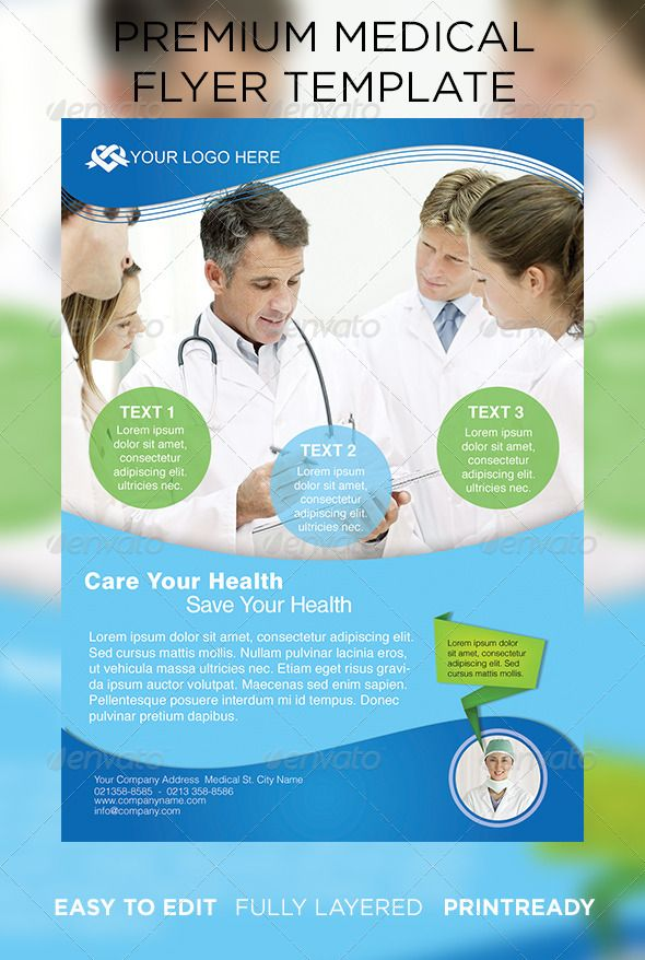 Premium Medical Flyer - Corporate Flyers Print Ready Graphic