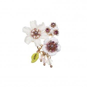 Broche bouquet de fleurs d'hiver - Les Néréides - N2
