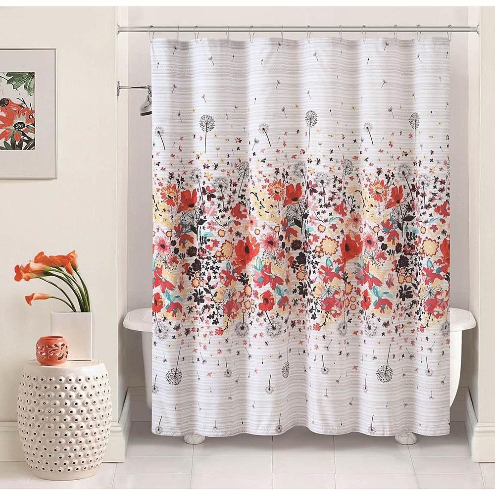 Magnolia 72x72 Shower Curtain Multicolor Home Bed Bath