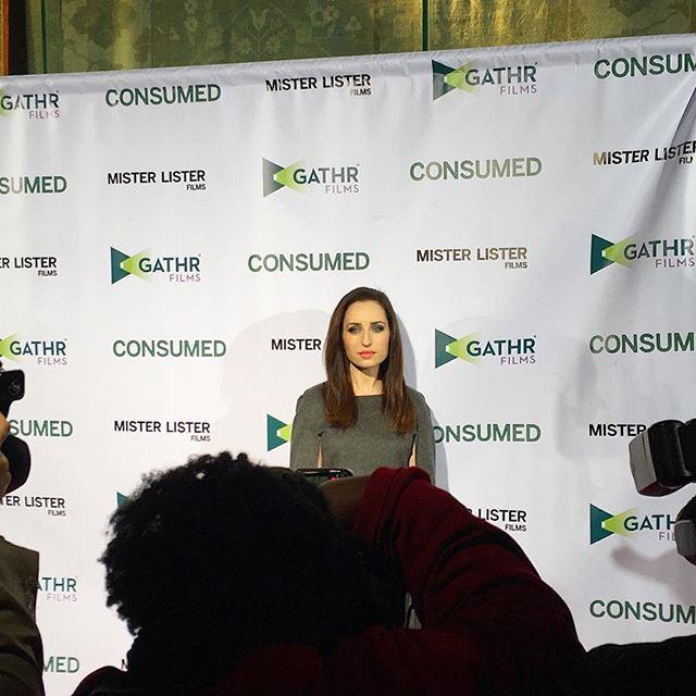 LA Premiere of Consumed POPS OFF! @consumedmovie #consumedmovie