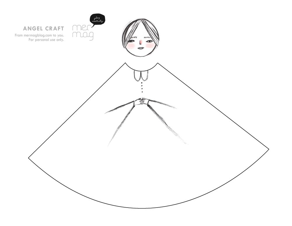 mer mag easy paper angel craft merrilee liddiard art pinterest