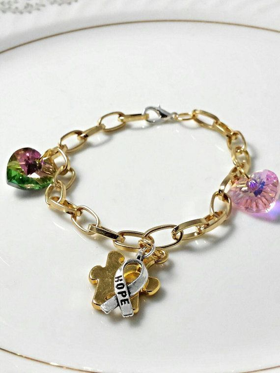 Autism Hope Charm Bracelet 17 99 Listing At Https Www Etsy 228332549 Awareness Jewelry