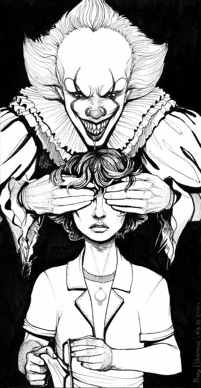 Loveee | Horror drawing, Spiderman coloring, Drawings