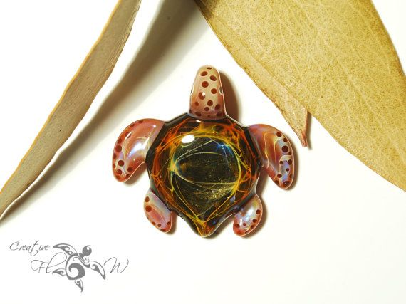 Baby magic realm turtle pendant glass jewelry by creative flow baby magic realm turtle pendant glass jewelry by creative flow glass mozeypictures Images