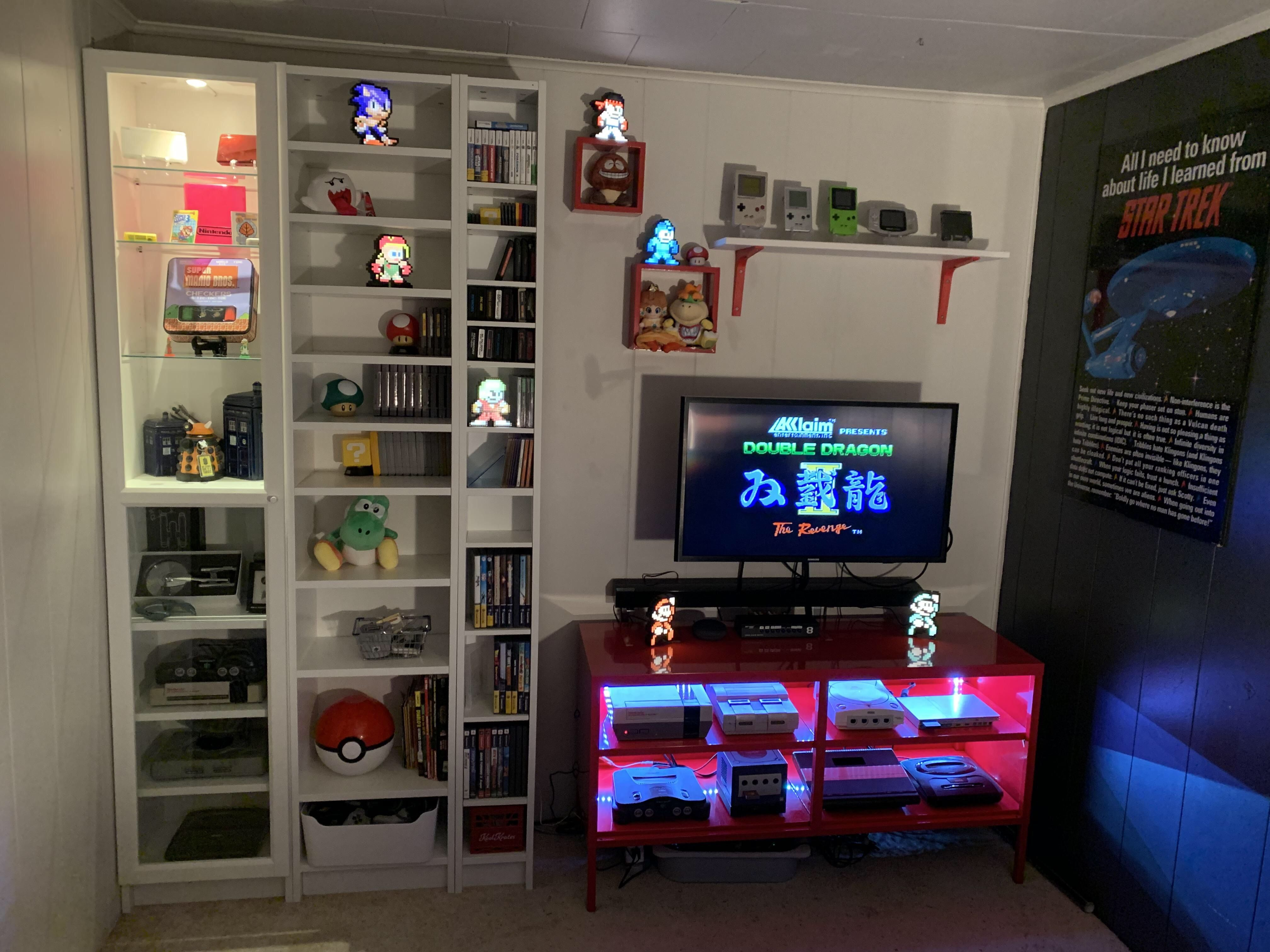 Retro Game Room And Collection Game Room Retro Games Room Video Game Rooms