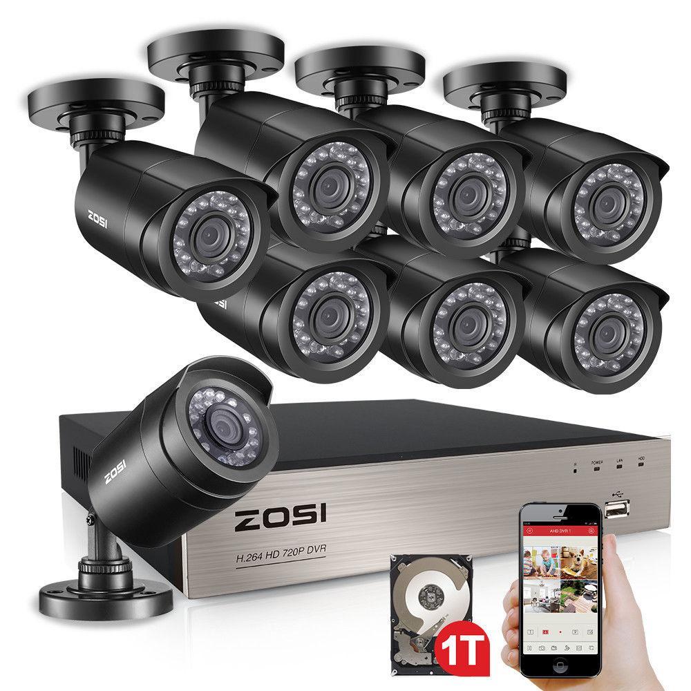 Zosi 4ch Full D1 960h Hd Dvr 4pcs 800tvl Hd 24ir Outdoor Day Night C Wireless Security Camera System Wireless Security Cameras Wireless Security Camera Outdoor