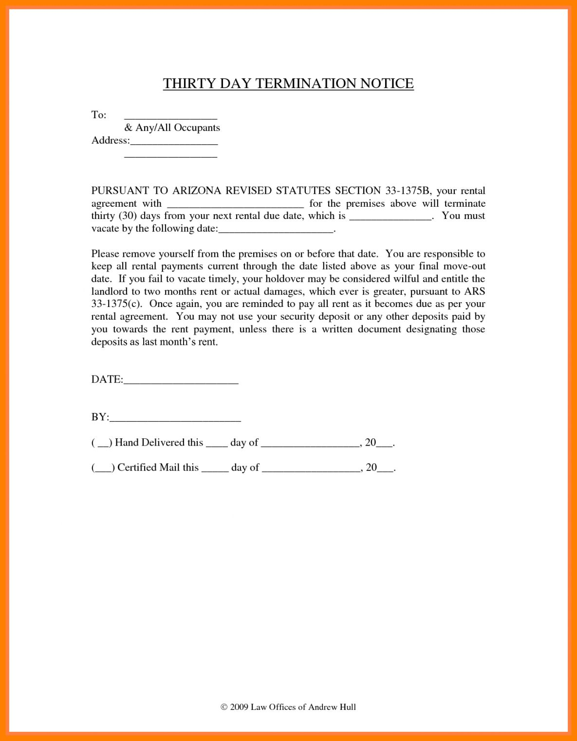 Get Our Image of 8 Day Notice To Vacate Apartment Template