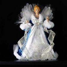This Lovely Silvestri Lighted Porcelain Angel Christmas Tree  - Christmas Angel Tree Topper Lighted