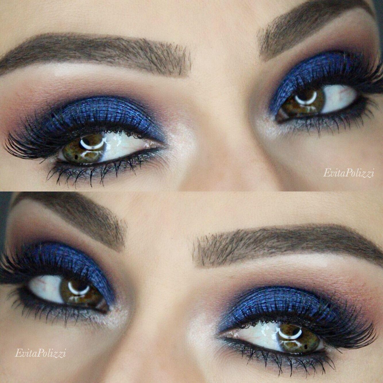 royal blue smokey eye we this! Blue