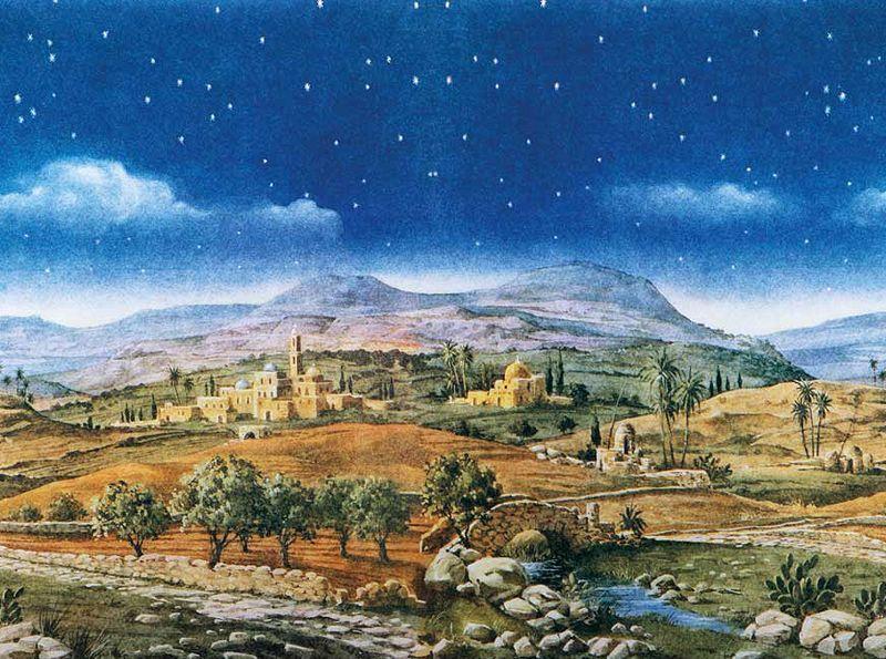 6cd457fa238 Escenografías para el Belén  Fondo paisaje hebreo