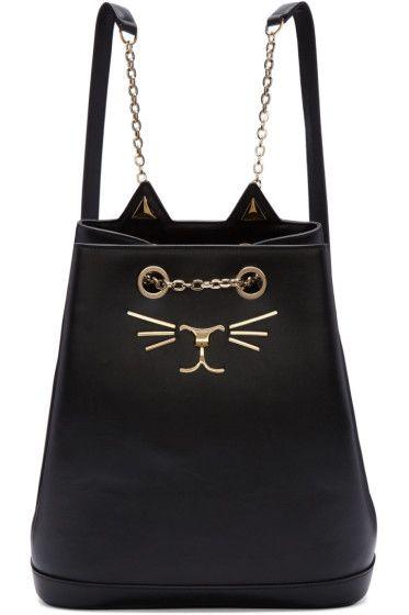 091f21a55f5c Charlotte Olympia - Black Feline Backpack