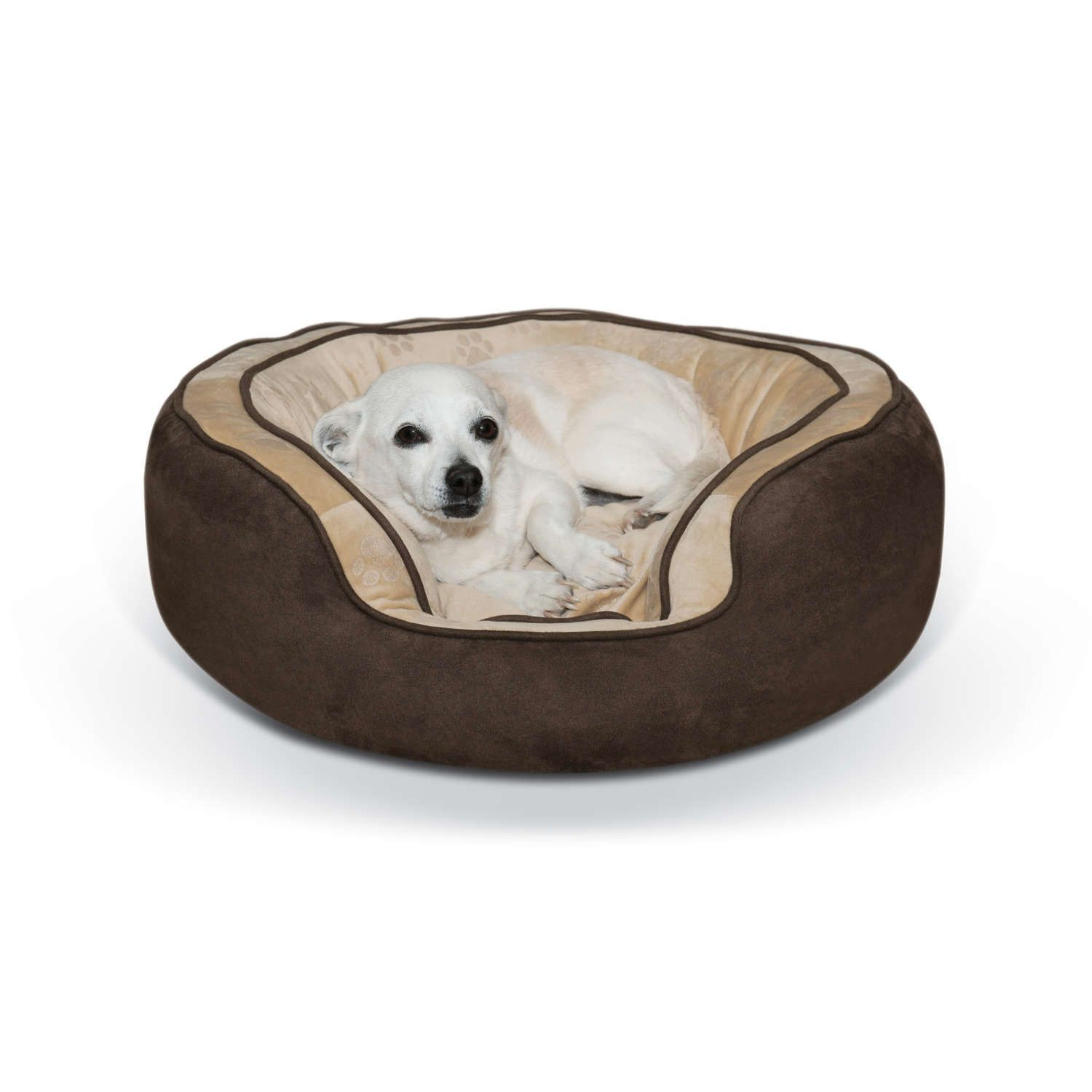 K&H Pet Products Round N Plush Bolster Dog Bed Kh7004