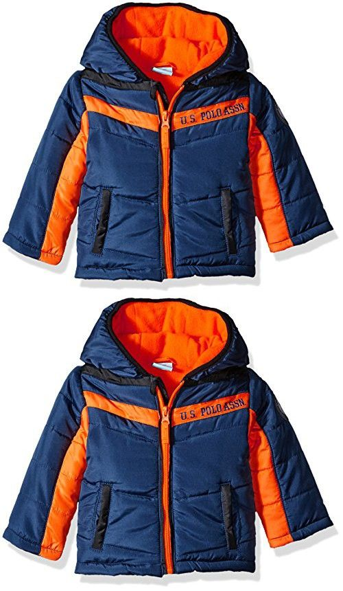 e489b78f5 U.S. Polo Assn. Baby Boys  Heavyweight Bubble Jacket