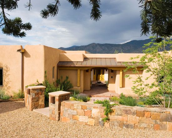 Sensational Adobe Home Design For Living : Fascinating Adobe Home In New  Mexico Exterior Mediterranean Entry Part 51