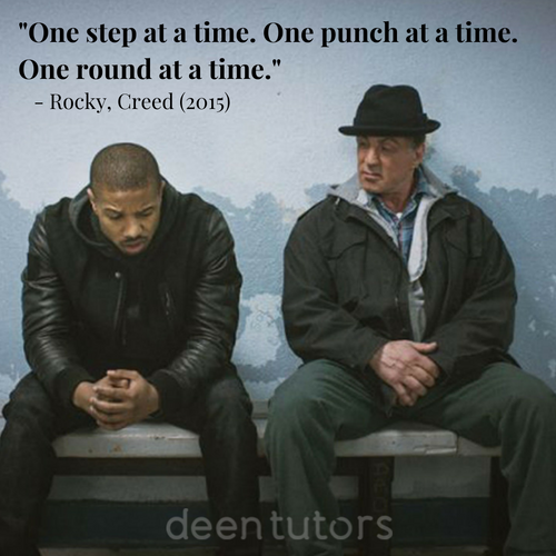 Take from Creed (2015). Awesome movie. Take life as it