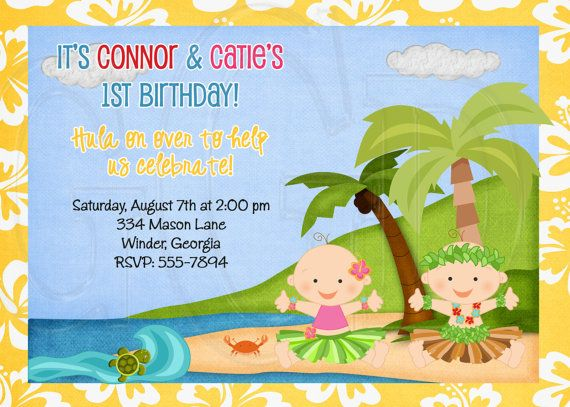 Baby Luau Birthday Invitation or Baby by graciegirldesigns77, $12.00
