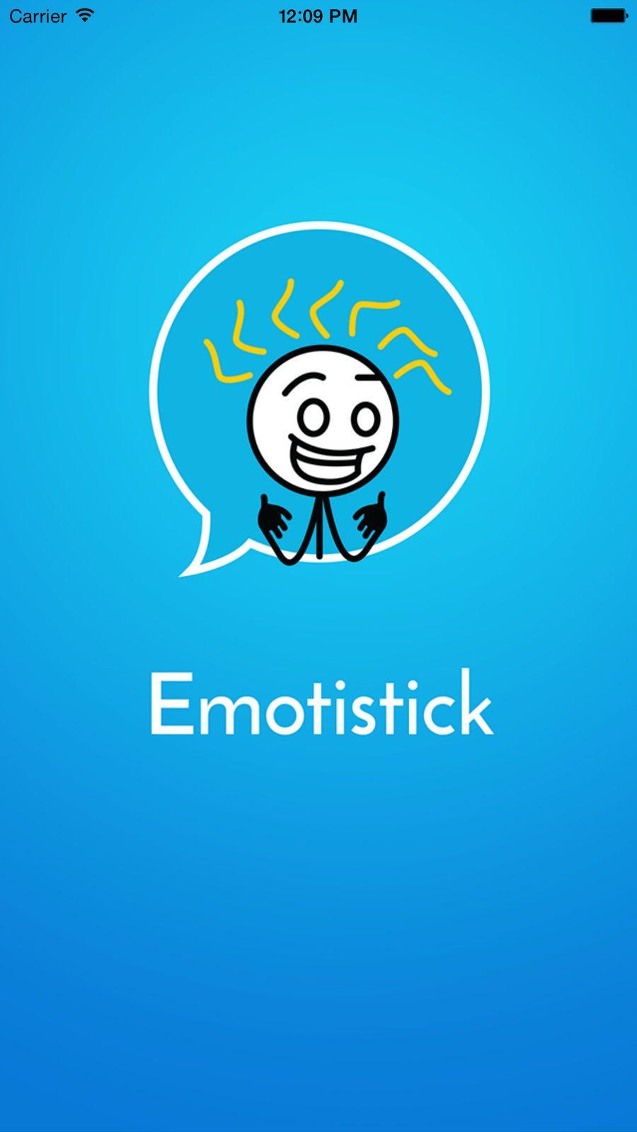 Emotistick animated text and imessage emoji emoticon