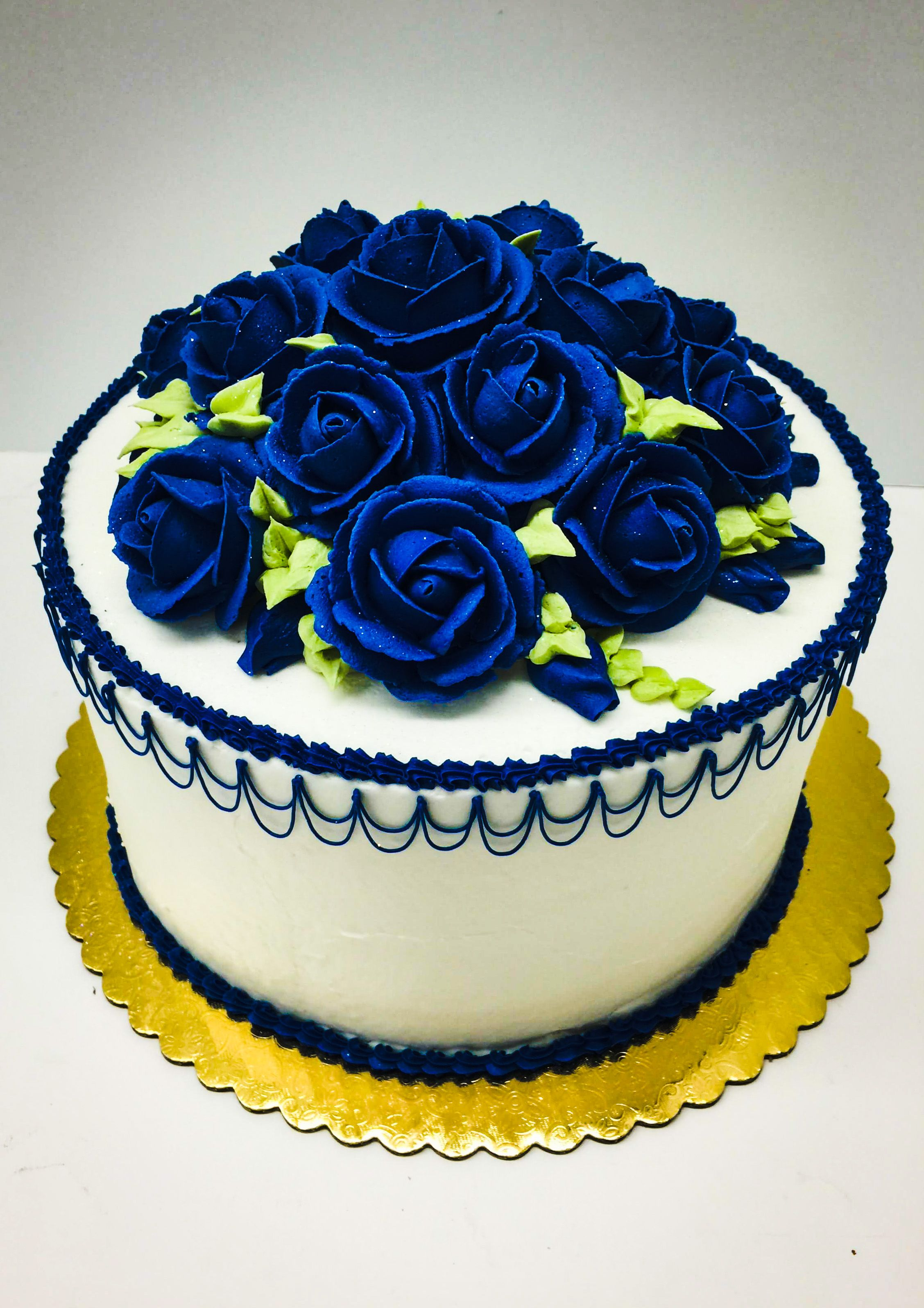 Blue Flower Birthday Cake Oregon Dairy Bakery 129 tags rose
