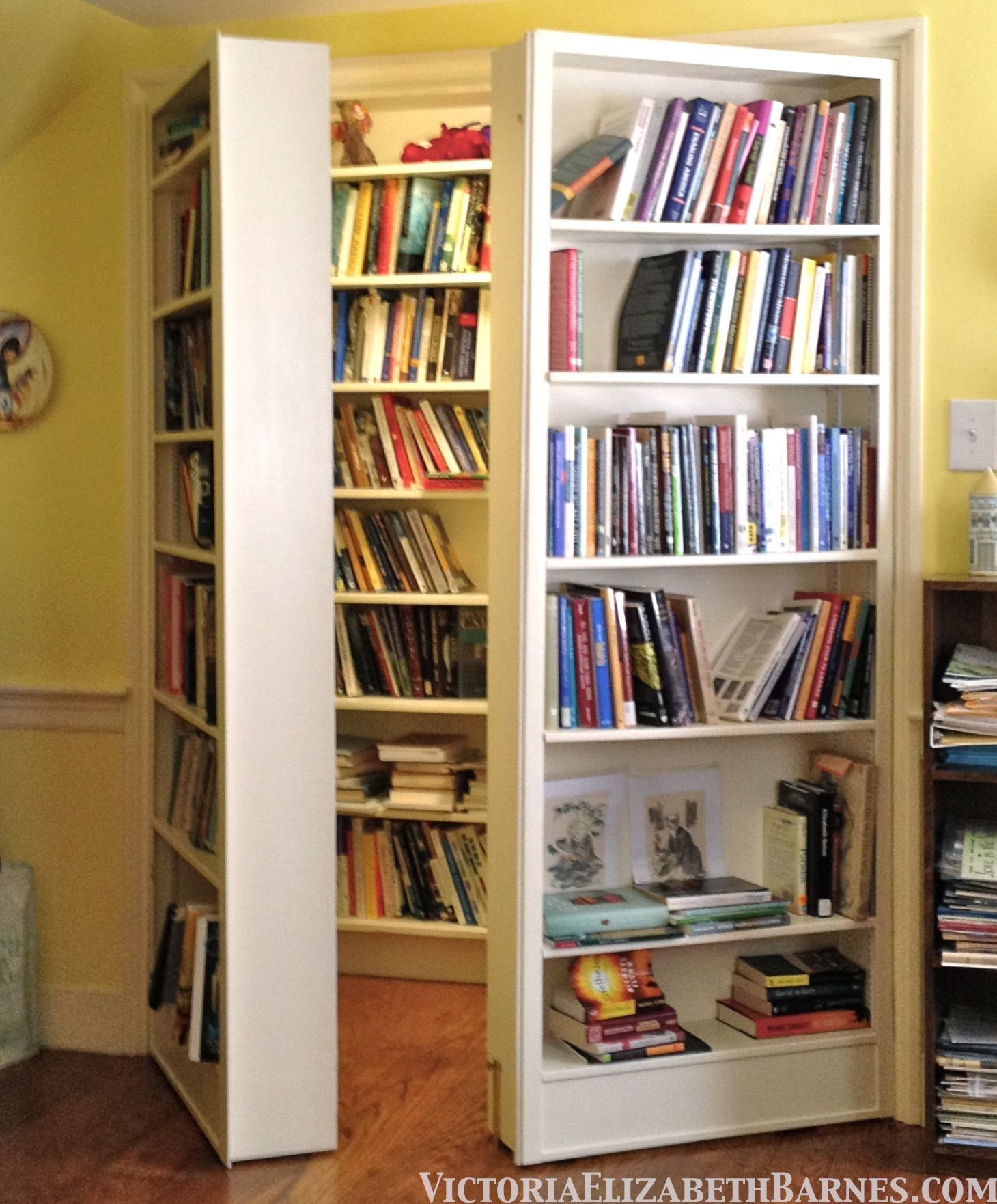 I Heard You Like Books So I Put A Bookcase Behind Some Bookcase Doors So  You Can Read While You Read