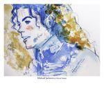dancing in the clouds, Farbstift Aquarell Zeichnung