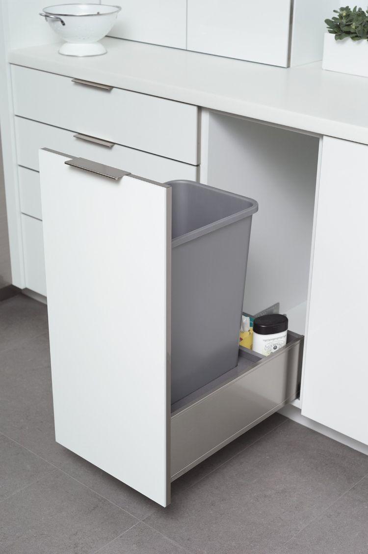 Einbau-Mülleimer außer Sichtweite halten – Moderne Ideen für ...