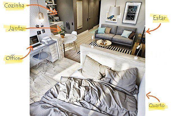 Um apartamento de 40 m2 nos mínimos detalhes