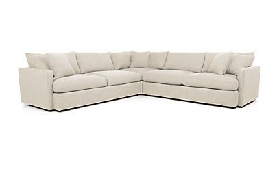 Miraculous Lounge Ii 3 Piece Sectional Sofa Reviews Crate And Beatyapartments Chair Design Images Beatyapartmentscom