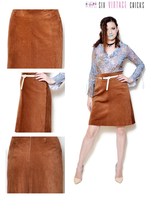 corduroy skirt vintage high waisted skirt mini brown skirt minimalist country womens clothing 90s clothing vintage  boho Medium by SixVintageChicks on Etsy