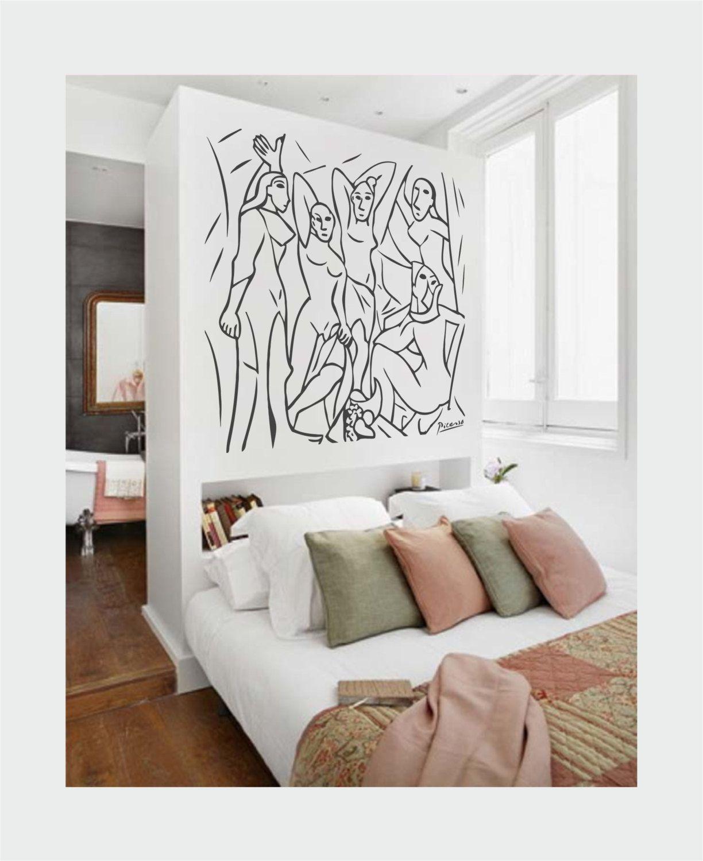 Art Mural Inspire Par Sticker Mural En Vinyle De Picasso Les Jeunes Dames D Avignon Amovible Mural Autocollant Decor Minimaliste Id 111052 Stickers Muraux Parement Mural Idee De Decoration