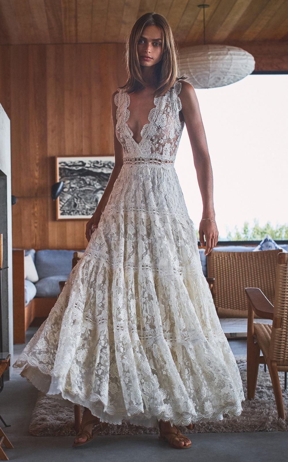 Stunning 70s Boho hippie maxi dress wedding prom floral