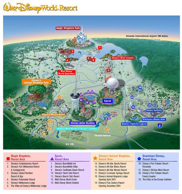 Disney World Maps, Disney Maps, Map of Disney World, Epcot Maps