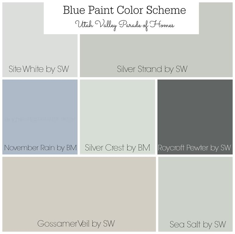 Whole House Blue Color Scheme Schemes
