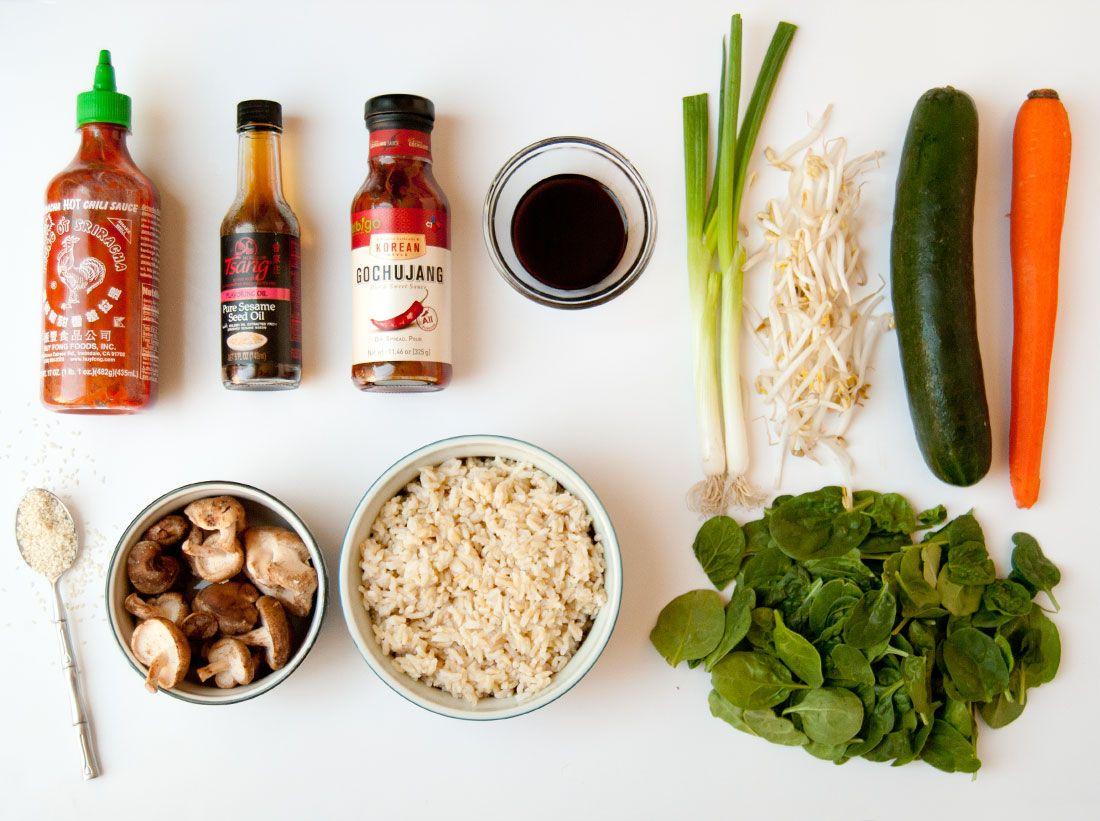 This Vegan Bibimbap Bowl Will Fulfill All Your Gochujang Cravings via Brit + Co