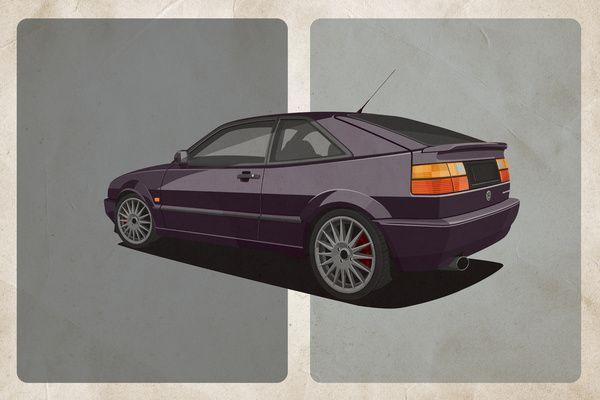 Vw Corrado Vr6 Art Print By Scott Park Illustration Society6 Vw Corrado Cars Movie Volkswagen
