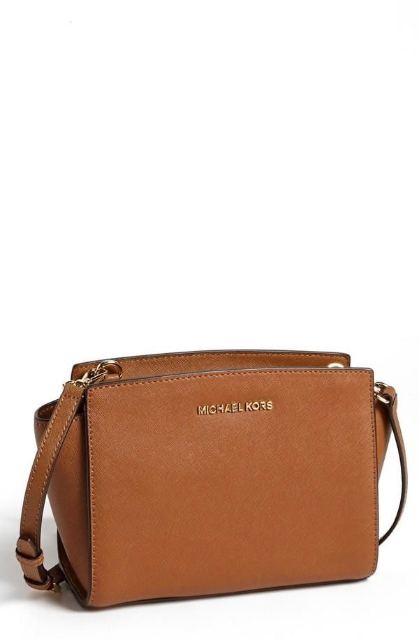 MICHAEL Michael Kors Selma - Medium Leather Shoulder Bag  c26d8632797