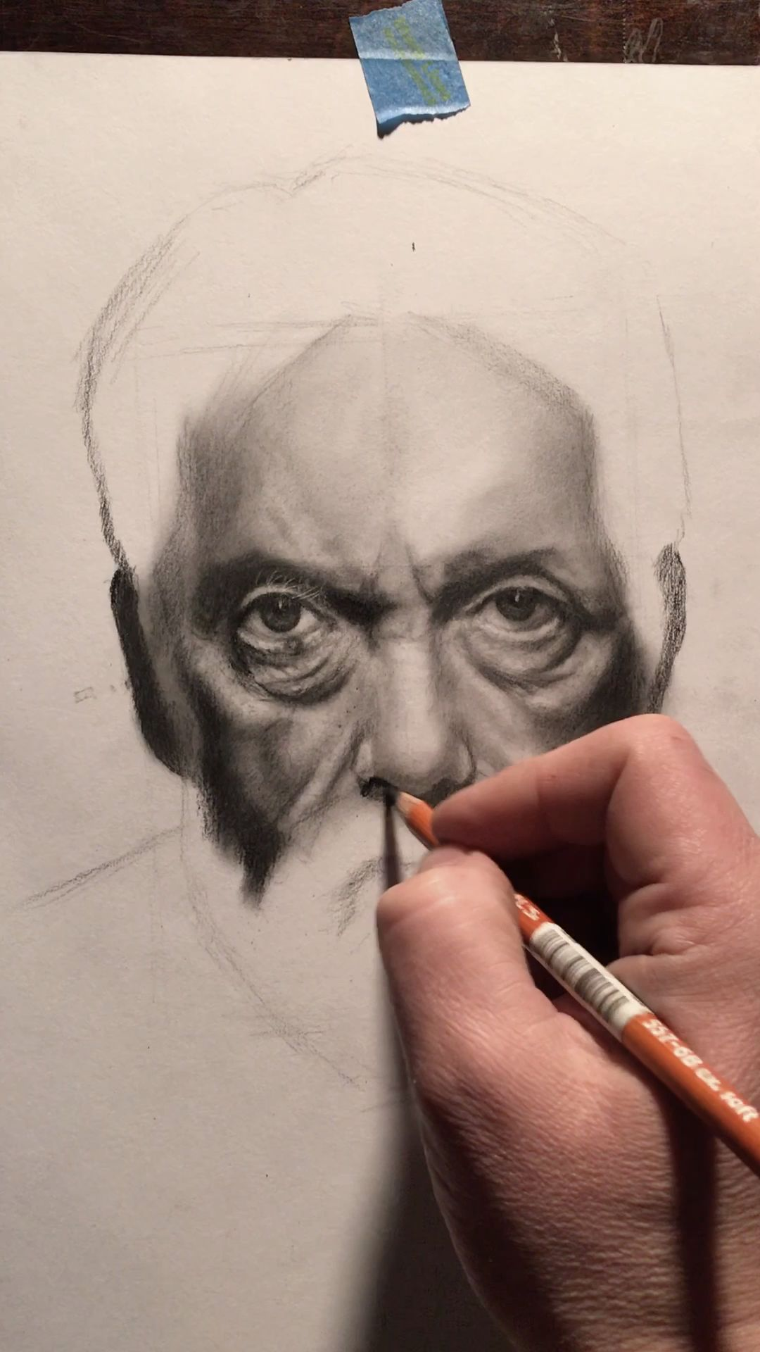 "Realistic portrait drawing techniques by classical figurative realism artist Eric Armusik. Charcoal pencil portraits on paper, 11 x 14"" #realistic #portraitdrawing #realism #drawing  #drawingtips  Study with me online from anywhere in the world.  Click the link below."