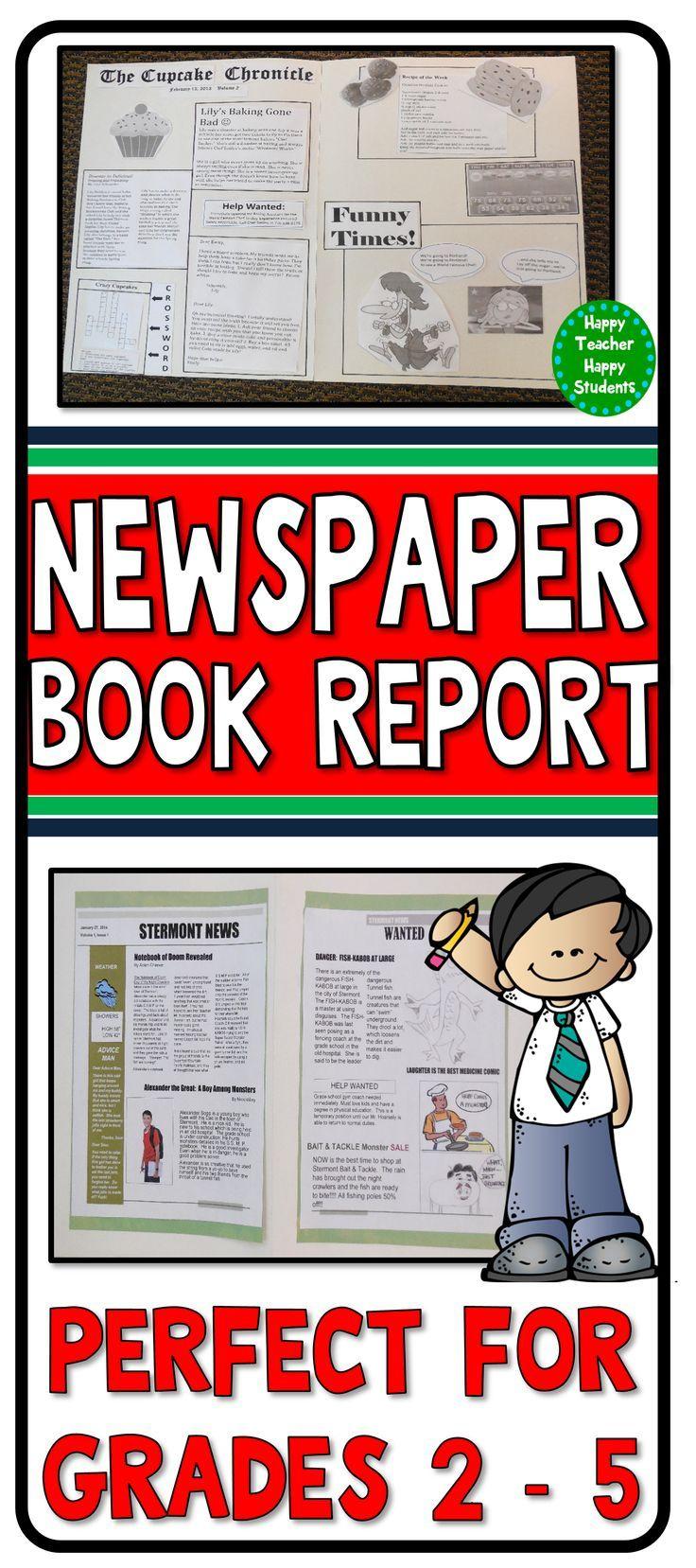Newspaper Book Report Template Fiction Non Fiction Book Report