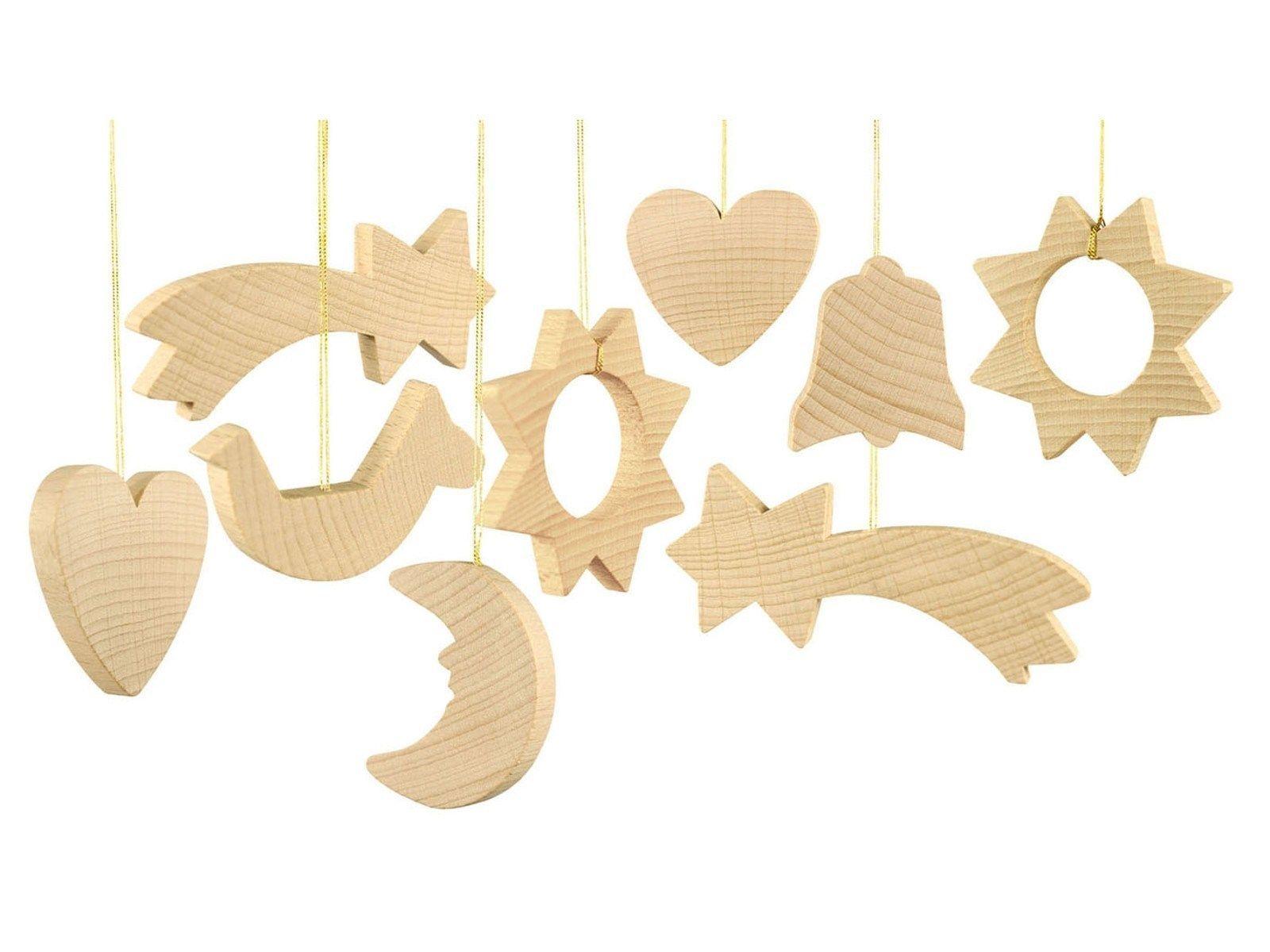 Nemmer Christbaumschmuck Aus Holz Flachmodelle 24 Teile