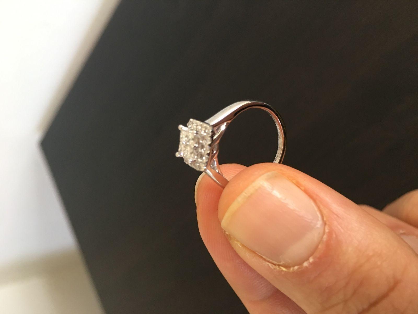 Kay Jewelers Diamond Engagement Ring 10k White Gold 4k Diamond Size 4