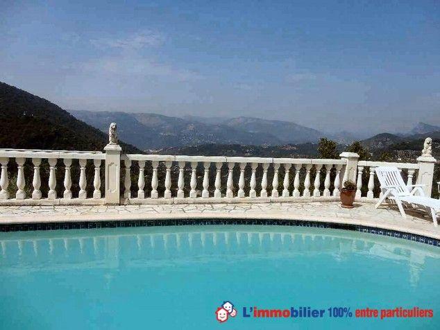 A 20 mn de Nice Maison provençale, 2 niveaux, vue panoramique