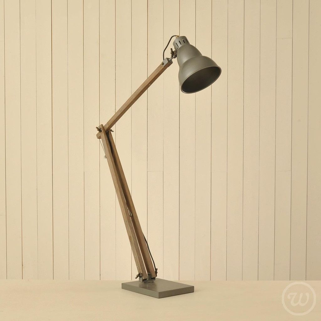Floor standing Wooden angle poise lamp   Within Reason   rooms ...