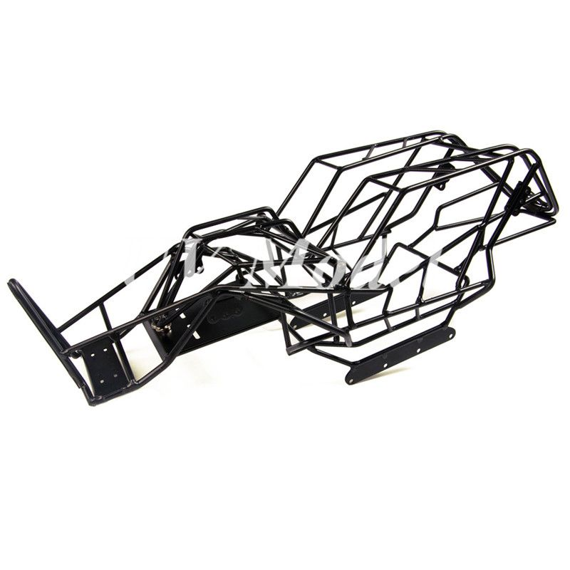 1 10 Scale Rc Axial Wraith Truck Full Metal Roll Cage Frame Body Black Chassis Whith Esc Mount Plate For 1 10 Axial Wraith Roll Cage Remote Control Toys Metal