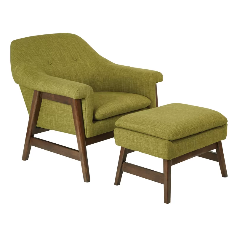 Wilber 20 25 Lounge Chair And Ottoman In 2020 Chair And Ottoman Set Chair And Ottoman Modern Wood Lounge Chair