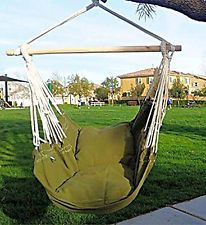 Ruipu Hammock Chair Hanging Rope Chair Porch Swing Outdoor Chairs Lounge  Camp | EBay