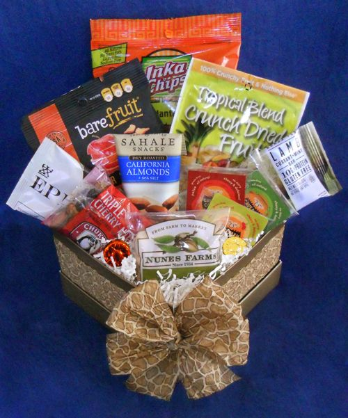 Paleo Snacks Gift Box - treat them to their own personal stash! Packed full of snack sized paleo treats. #paleo #gift #snacks