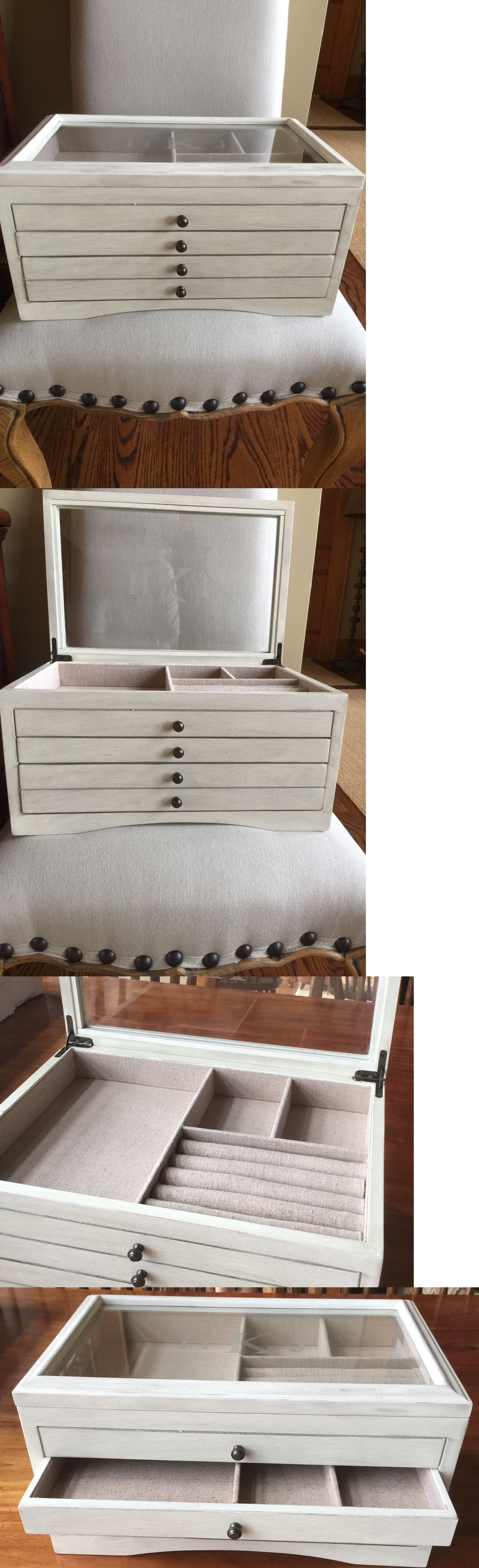 Jewelry Boxes 3820 Pottery Barn Andover Jewelry Box Ivory Stain