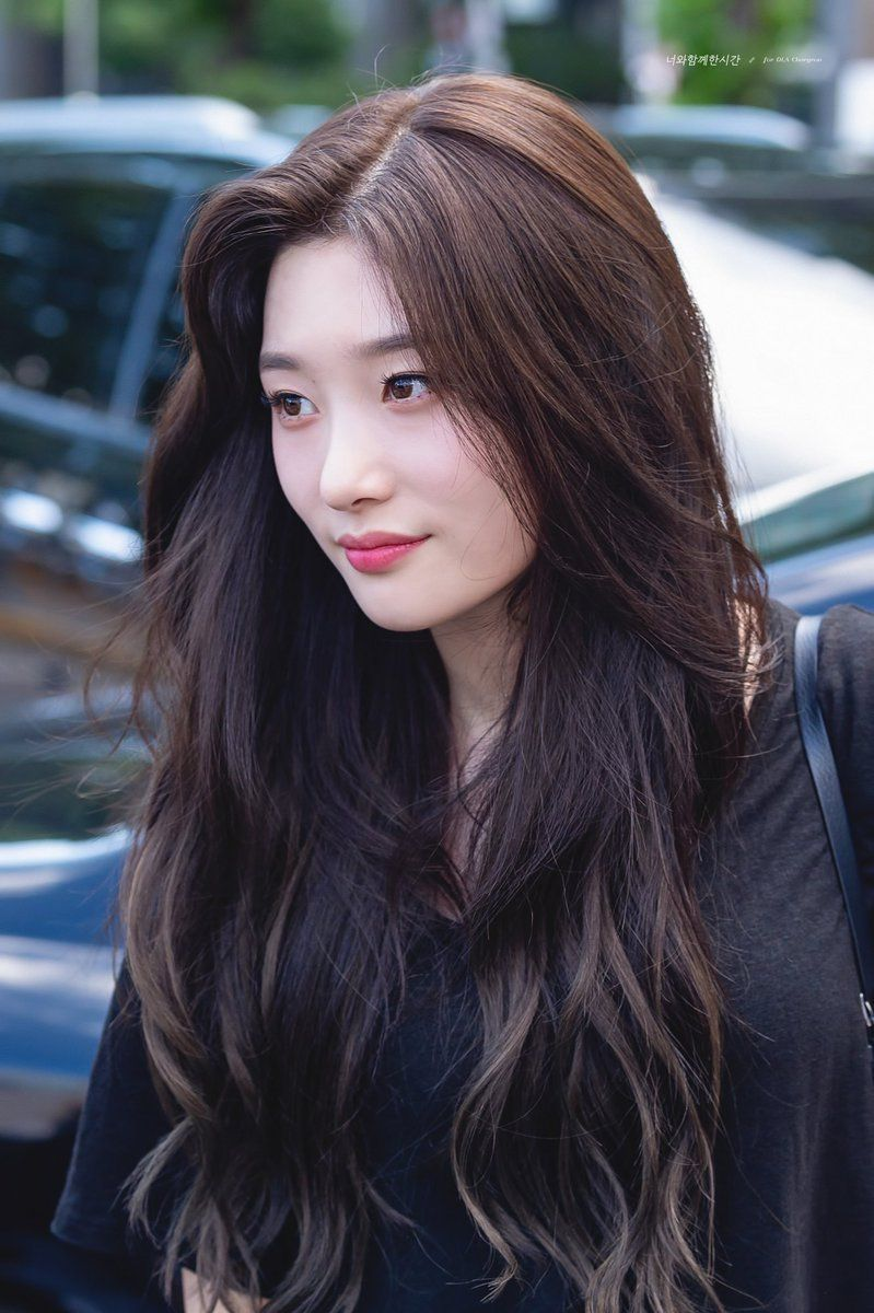 Http Tiffkyu Tumblr Com Post 176482935170 Korean Long Hair Korean Hair Color Long Hair Styles