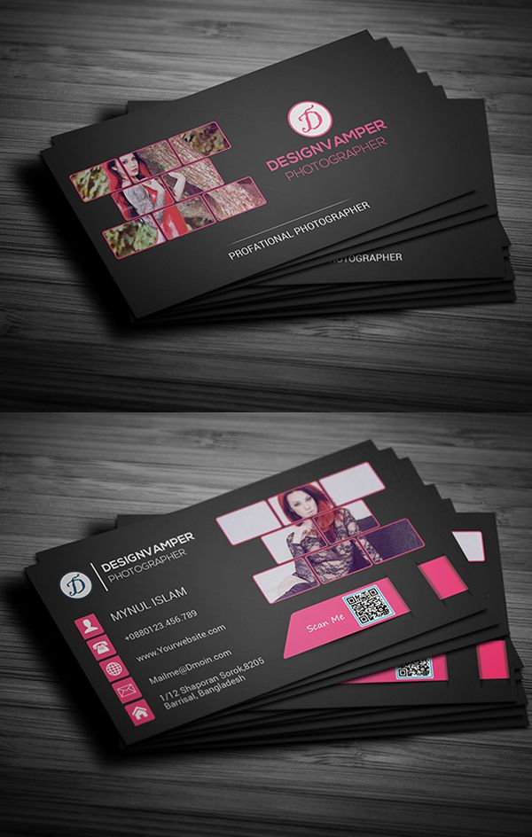Photographer Business Card #businesscards #psdtemplates ...
