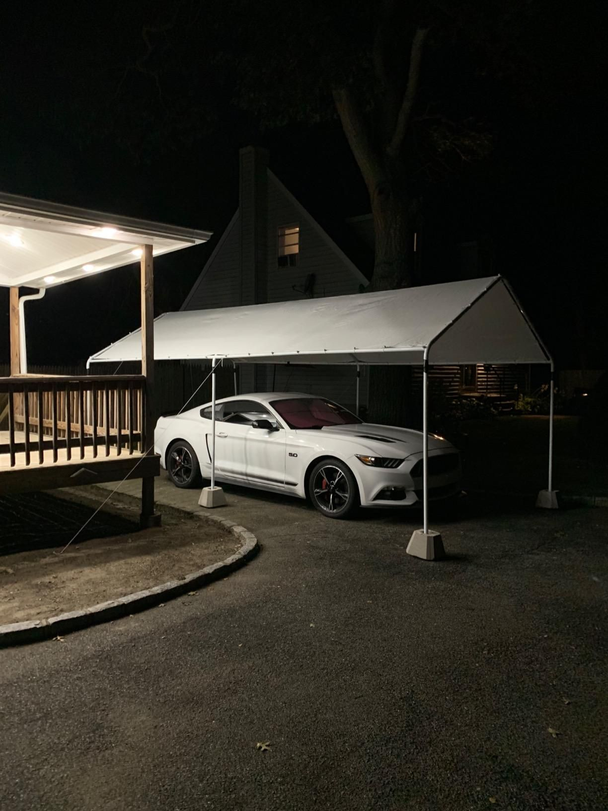 Qucitent Upgraded 20' x 10' Heavy Duty CarportGray in