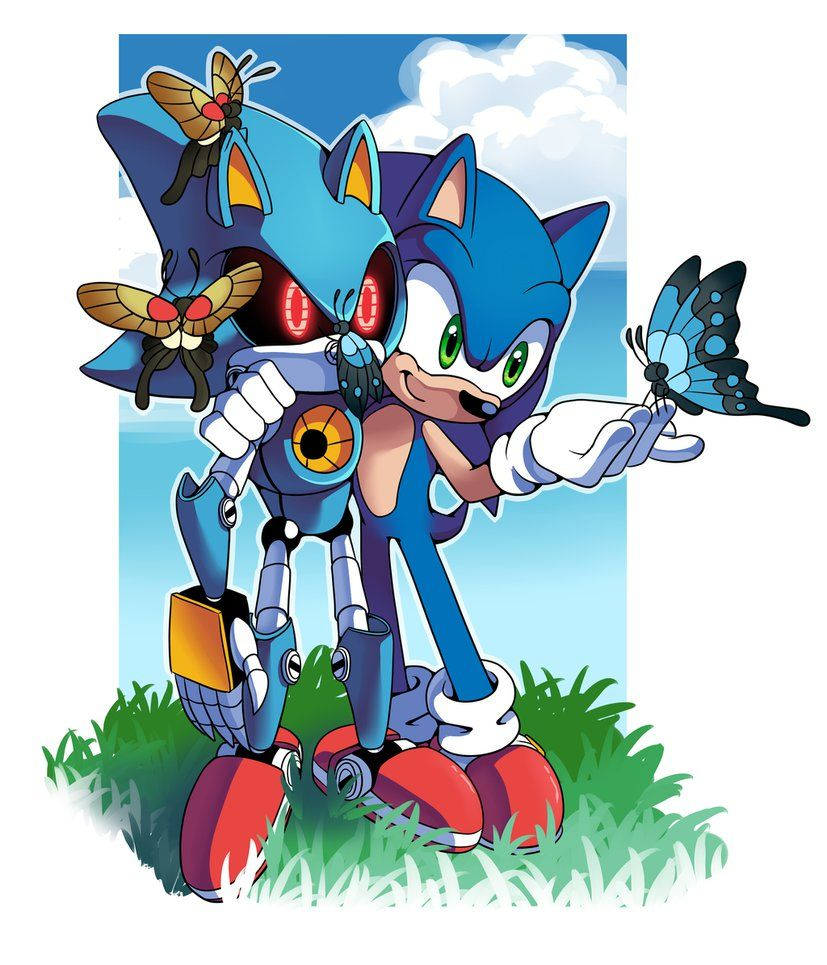 I Like The Theory Of Metal Sonic Being Sonic From Another